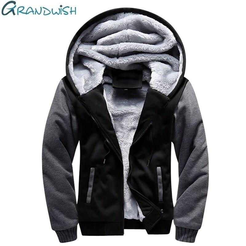 Grandwish Men's Winter Jacket Parka Warm Windproof Coats Polyester US Size 5XL Men Jackets Campera Hombre Invierno,NA121