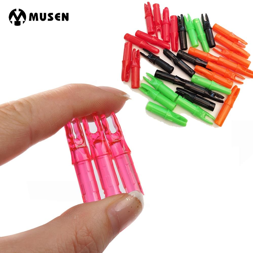 5 cores 50 pçs seta nocks internos para eixo de fibra de vidro carbono flecha nocks id 6.2mm od 7.6mm ao ar livre fitness