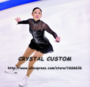 Girls Figure Skating Dress Graceful New Brand Ice Skating Dresses For Competition Customized DR3906