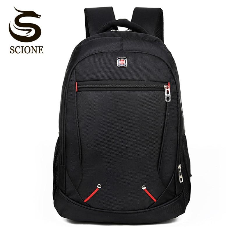 Scione 15.6 inch Laptop Backpack Men/Male Backpack Black Waterproof Travel Backpack Man Business Backpacks Women School Rucksack