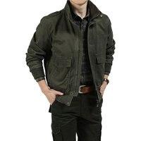 New Autumn Brand Military Army Jacket Men Pockets Black Green Design Plus Size 3xl Casual