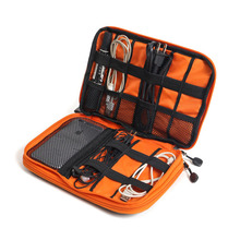 купить JPZYLFKZL Waterproof Double Layer cable organizer bag Electronic SD card USB Earphone Case Digital Travel Accessories Organizer по цене 653.38 рублей