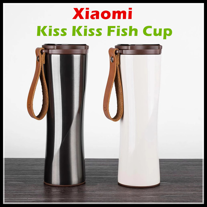 2017 Xiaomi Kiss Kiss Fish Smart Cup 430ml OLED Temperature Screen Display 310g Protable Stainless Steel