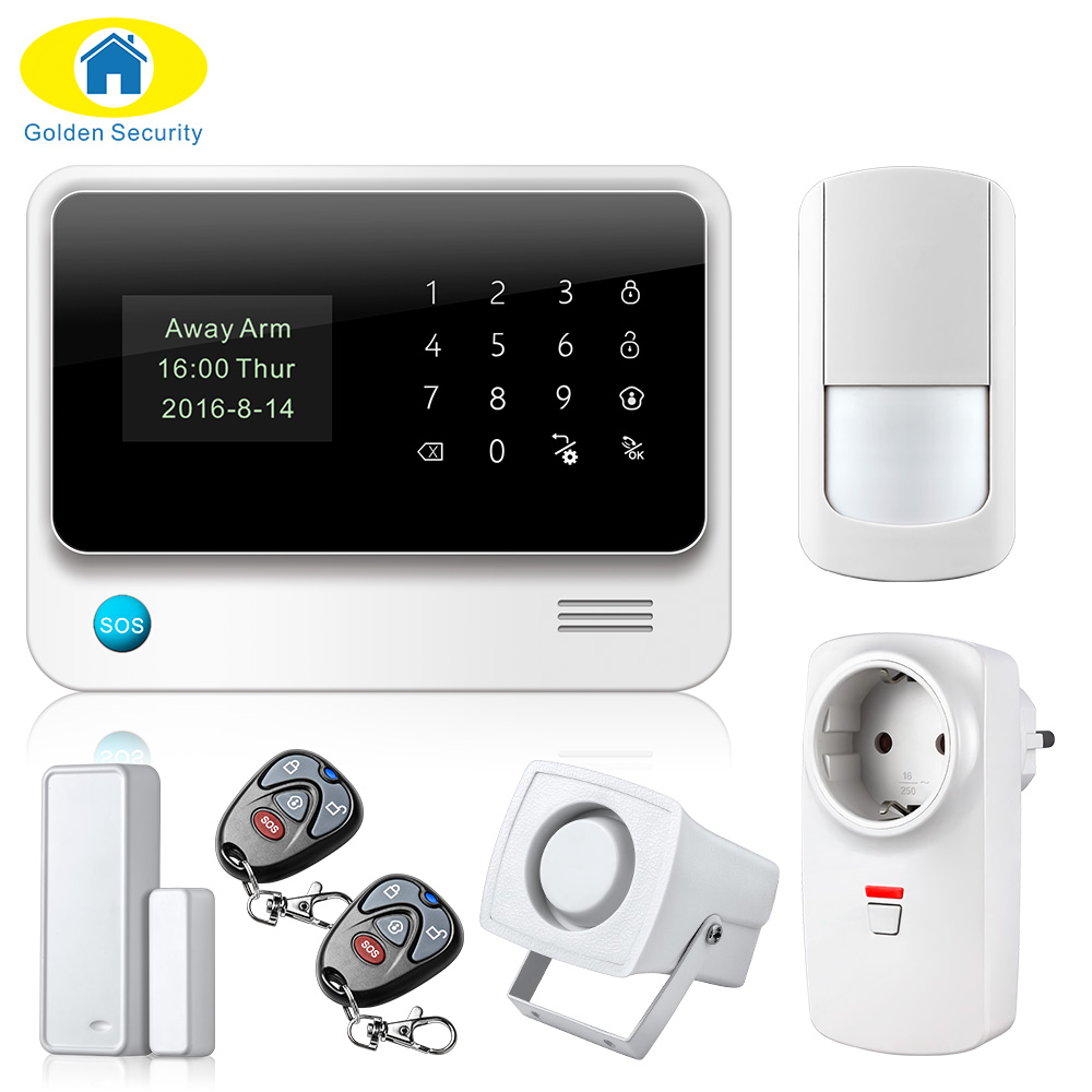 2017 NEW Arrival G90B Plus GSM Alarm System Smart Home GPRS WIFI Security Burglar Alarm Apps Control Door/Window Sensor Alarm цена и фото