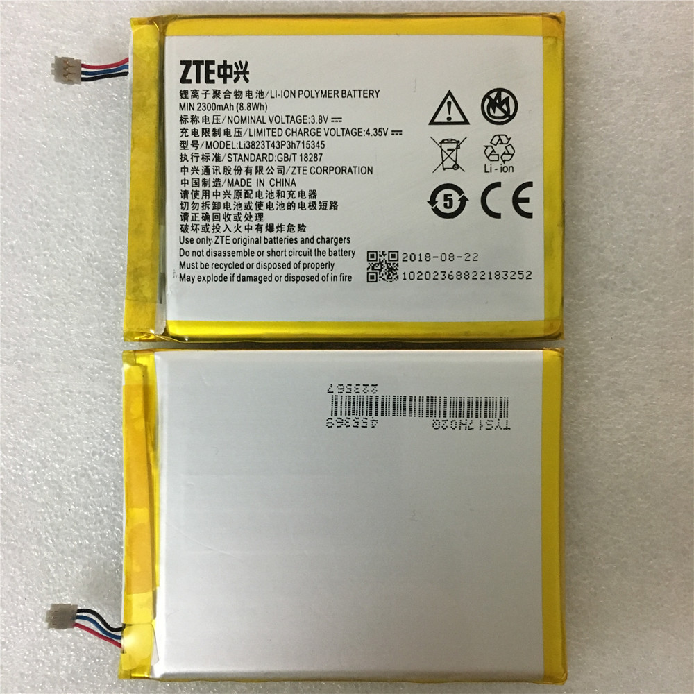 Original 2300 mAh Bateria Para ZTE Grande S Flex LI3820T43P3h715345/Para ZTE MF910 MF910S MF910L MF920 MF920S MF920W + bateria