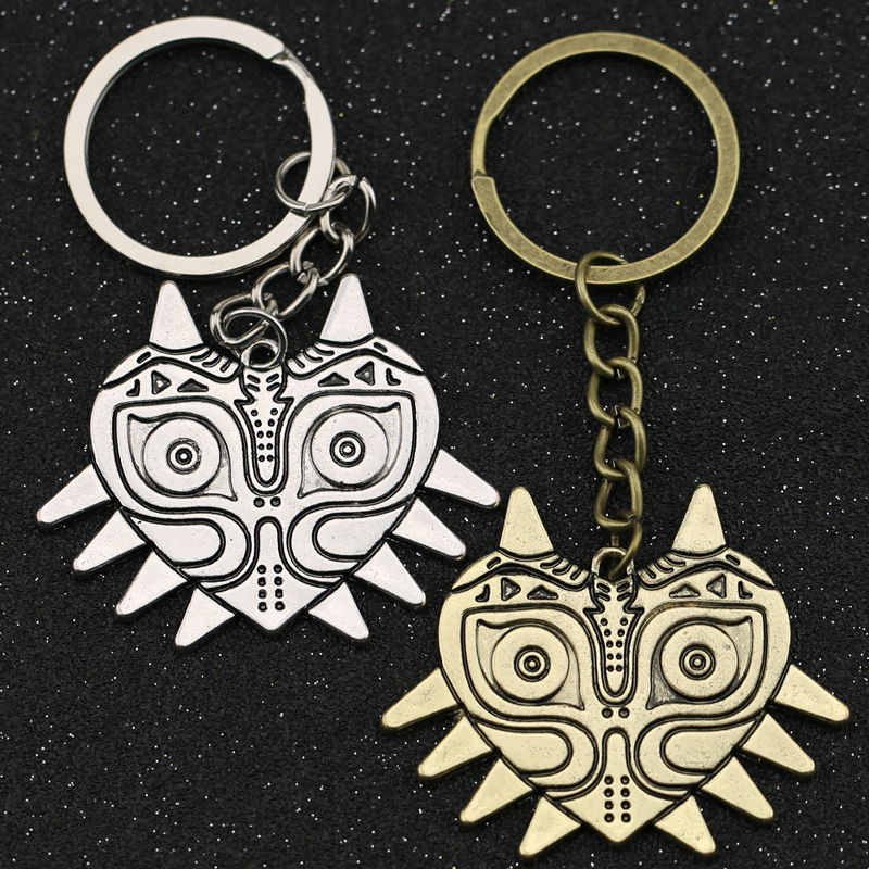 The Legend Of Zelda Keychain Majoras Mask Breath Of The Wild Owl Keyring Key Chain Ring Steampunk Fashion Game Jewelry Wholesale