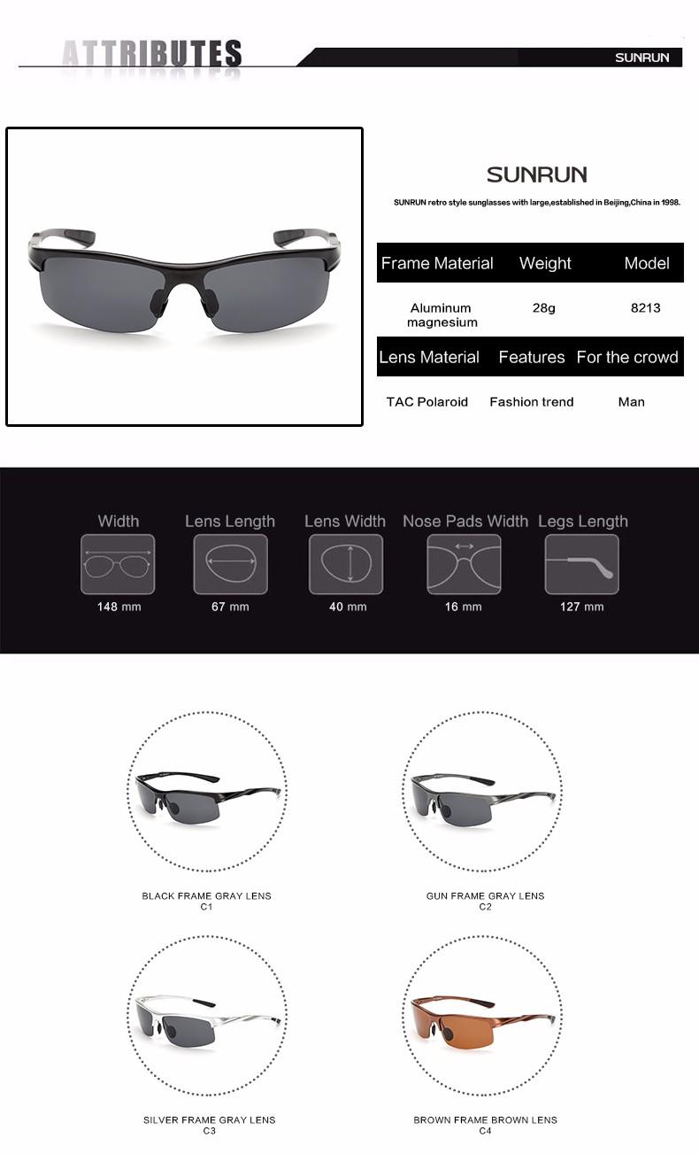 HTB1aRbyNFXXXXbnXVXXq6xXFXXXf - SUNRUN Men Driving Sunglasses Aluminum Frame Polarized Sunglasses Car Drivers Night Vision Goggles Anti-glare Sun Glasses P8213