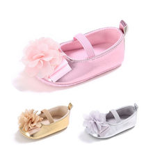 Baby Girls Shoes Fashion Toddler Infant Baby Girls Solid Flower Soft Sole Anti-slip Shoes Baby First Walker Shoes M8Y18#FN(China)