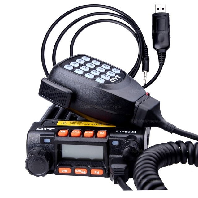 qyt kt-8900 kt8900 vhf uhf mobile radio transceiver kt8900 mini car bus army mobile vhf two way radio station+usb cd