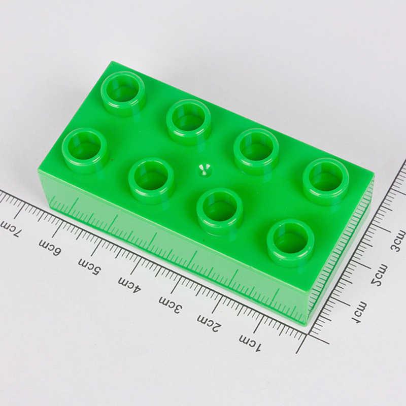 Placa Base de 256 ladrillos grandes 16*16 puntos 25.*25,5 cm placa base bloques de construcción duploé juguetes para regalos de niños