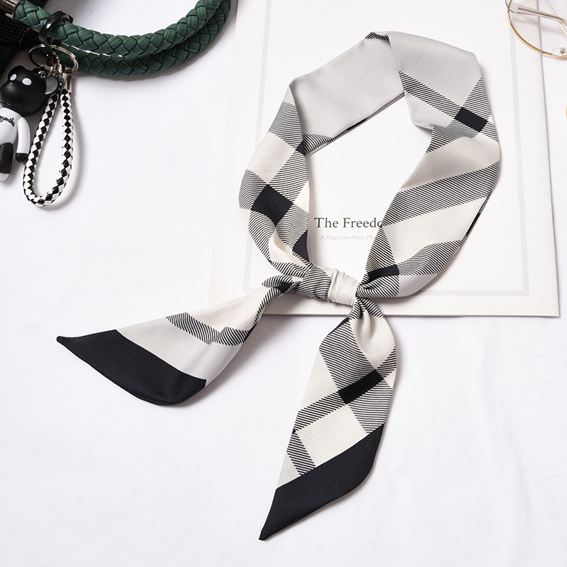 2020 New Thin Women's Scarves Selling Fine Narrow Twill Bandage Bag Decoration Wild Decorative Scarf