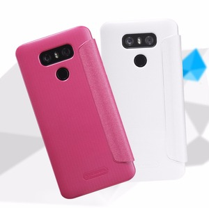 Image 5 - Leather Case for LG G6 NILLKIN sparkle PU leather flip cover smart wake up window for lg g6 (5.7 inch)