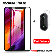 купить 2-in-1 Camera Glass Xiaomi Mi 8 Lite Tempered Glass Screen Protector Xiaomi Mi 8 Glass Flim Xiaomi Mi 8 Lite screen protector недорого