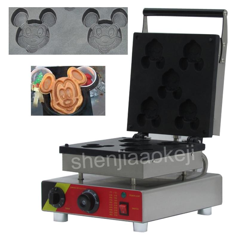 Stainless Steel Electric Mickey Waffle Maker Machine DIY Cartoon animal shape scone machine Commercial Waffle Machine 220v 1pc
