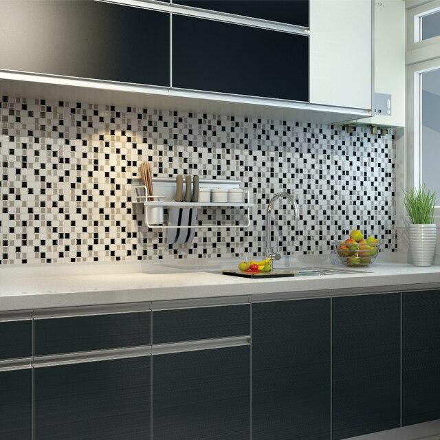 6 p s lote adesivo papel de parede 3d diy mosaico auto for Mosaico adesivo 3d