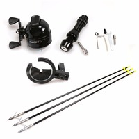 Archery Bowfishing Kit Recurve Bow Compound Longbow Complete Set for Hunting Shooting Fishing with Fishing Seat Arrows & Reels