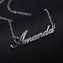 Collar de nombre personalizado de acero inoxidable, collares de mujer personalizados, Gargantilla, personalizado, su joyería de nombre para su regalo para el Día DE LA Madre