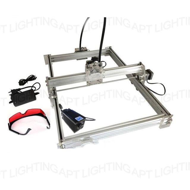 DIY mini 2500 mw 2.5 w grande máquina de gravar esculpir 350*500 gravação a laser máquina de escultura em marcas de impressora a laser avançado brinquedos