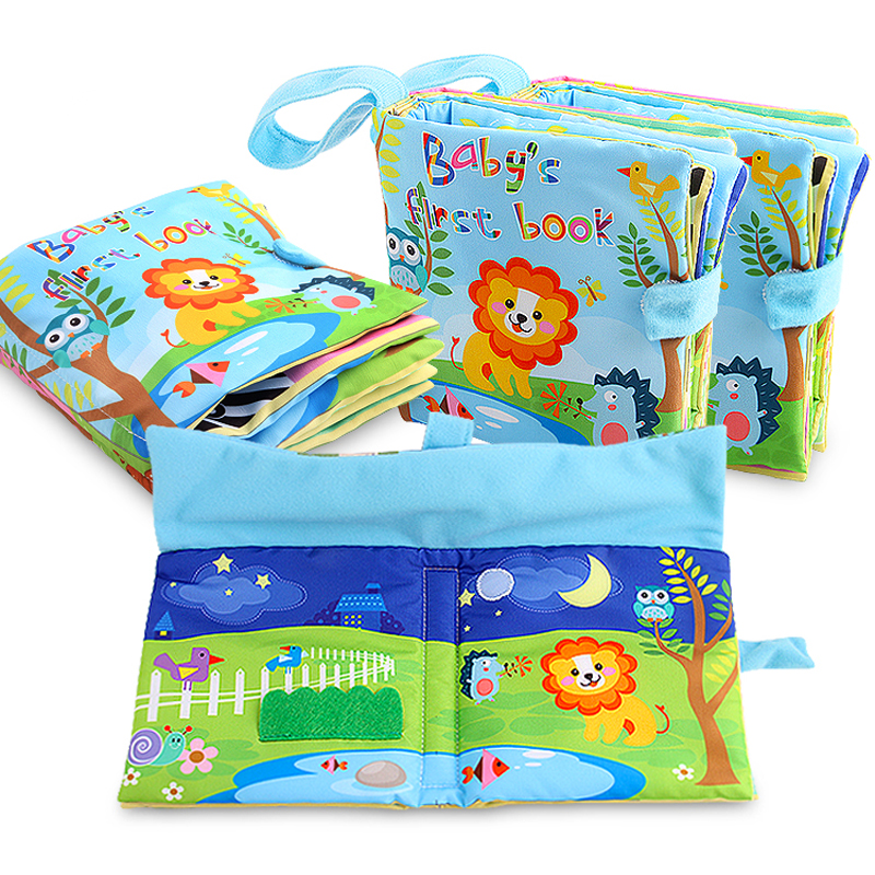 Baby font b Toys b font Infant Kids Early Development Cloth Books Learning Education Unfolding Activity
