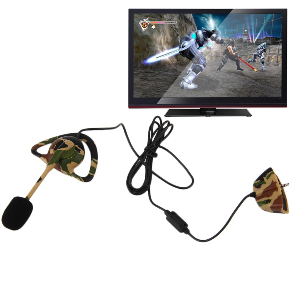 NEW Wired Camo Headset Mic Earpiece Earphone For XBOX 360 Console Gaming ...