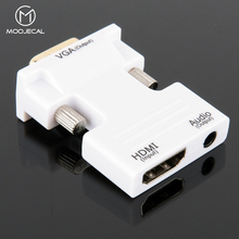 MOOJECAL 1080P HD HDMI to VGA Adapter Digital To Analog Audio Video Converter Cable for PC Laptop TV Box Projector