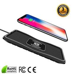 Cargador de coche cargador inalámbrico qi inalámbrico para coche almohadilla de carga para samsung 10 W rápido qi cargador de teléfono para iPhone X 8 más S7S9S6NOTE8