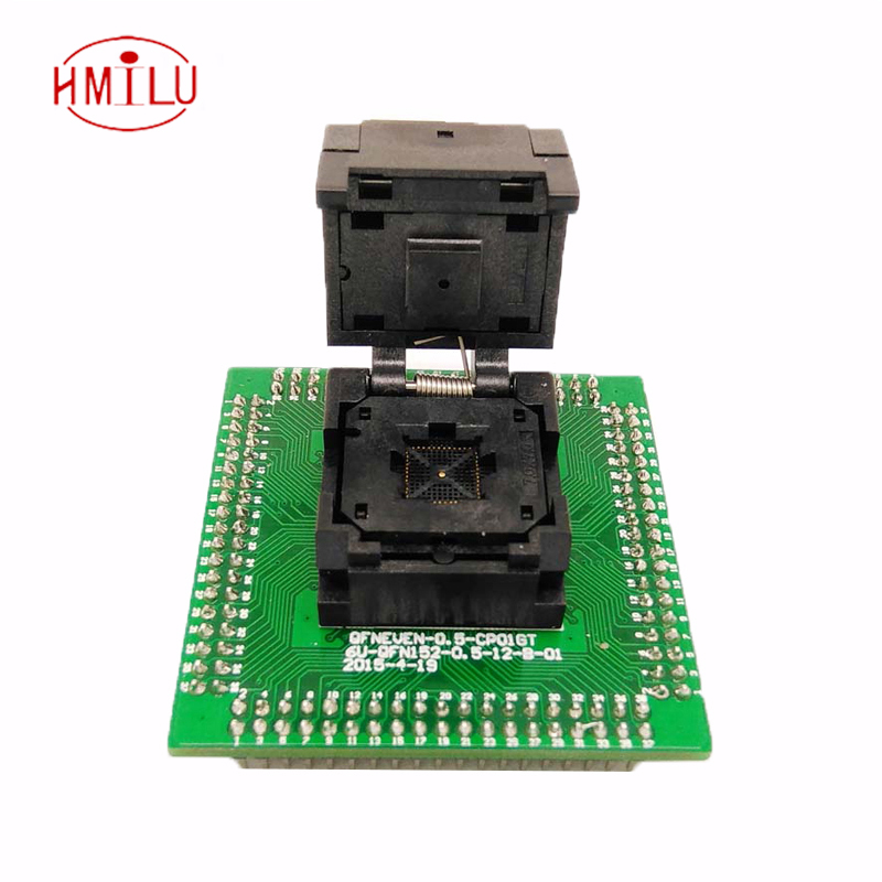 IC550-0484-004-G Programming Socket QFN48 MLF48 IC Test Adapter Pitch 0.5mm Clamshell Chip Size 7*7 Flash Adapter Burn in Socket qfn48 mlf48 programming socket ic test adapter pitch 0 4mm clamshell chip size 6 6 flash adapter burn in socket smd adapter