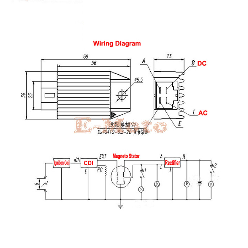 4 Pin Regulator Rectifier Wiring Diagram on chinese cdi wiring dc