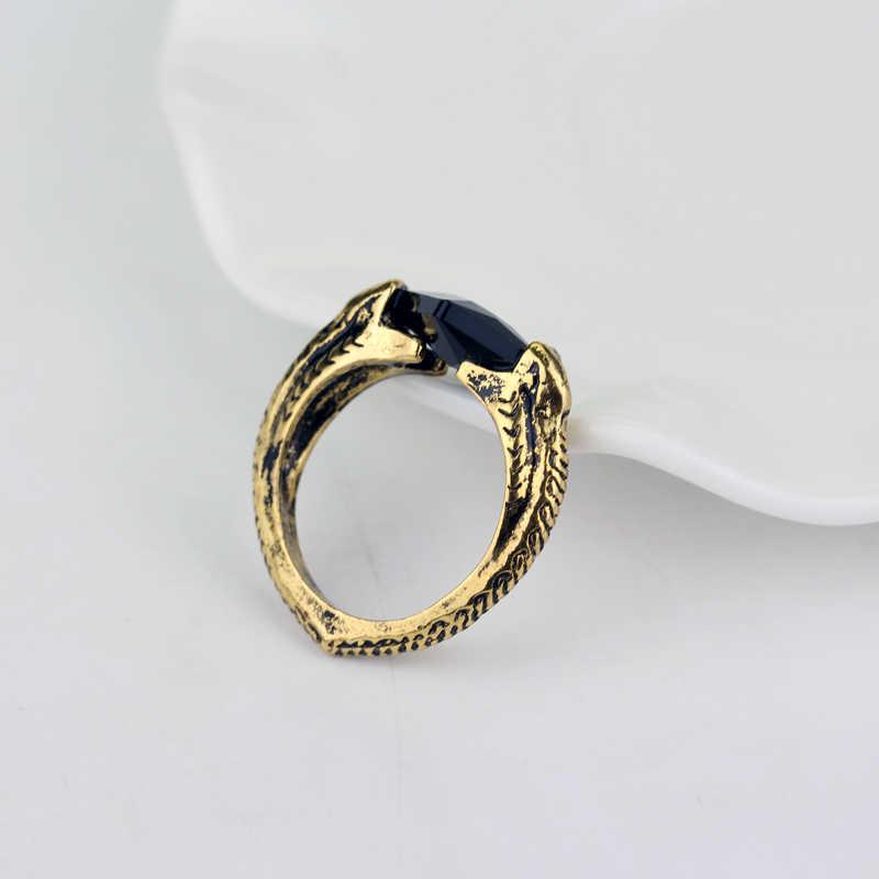 Horcrux de Voldemort de bronce antiguo reliquias de la muerte anillos Dumbledore para hombres y mujeres joyería anillo de compromiso de boda Envío Directo