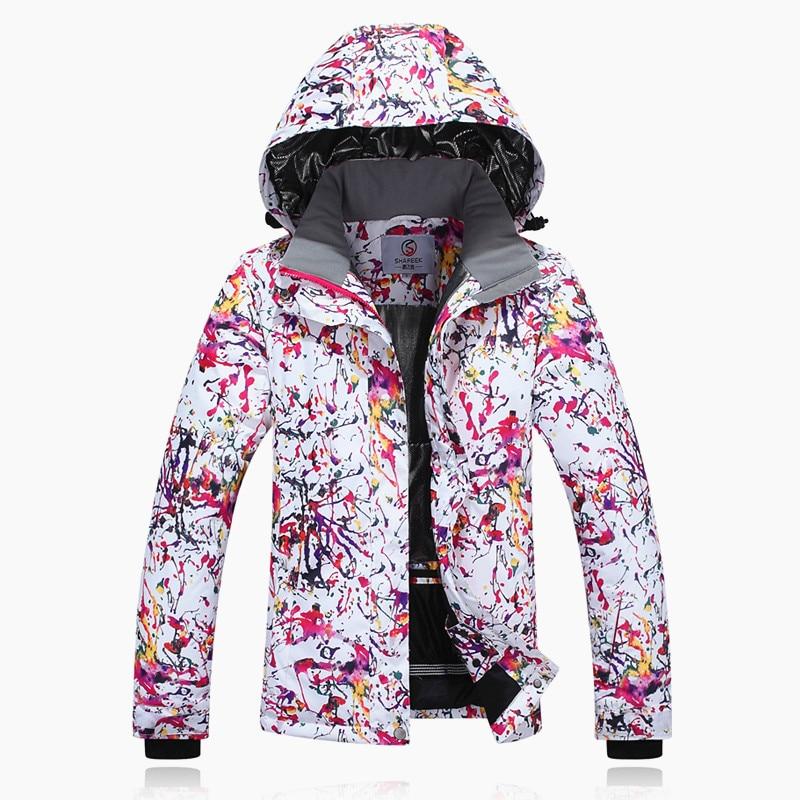 Veste de Ski femme Double planche Snowboard costume femme manteau coupe-vent imperméable épais chaud pour garder moins 30 degrés Celsius