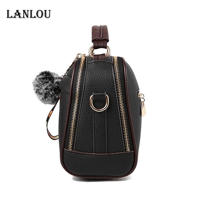 Womens luxury shoulder bag with Hairball Casual cross-body bag for women 4