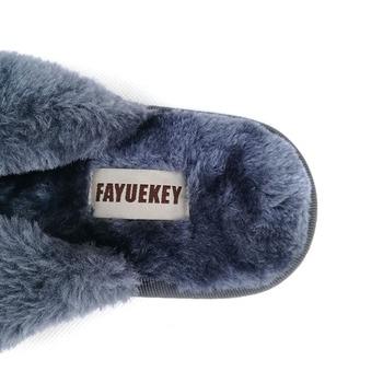 FAYUEKEY 2020 New Fashion Spring Summer Winter Home Cotton Plush Slippers Women Floor Flip Flops Zapatos De Mujer Flat Shoes 2