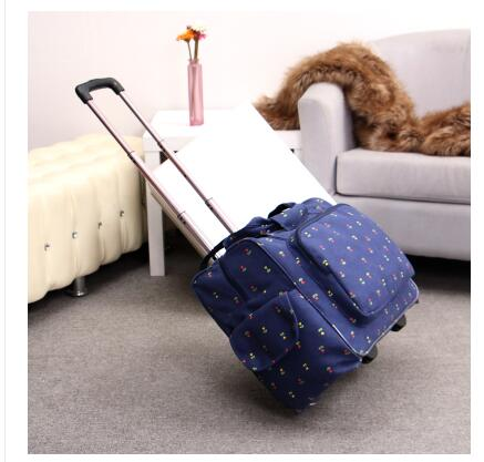 Women Travel trolley Luggage bag 20 Inch wheeled bags Laptop Business Travel trolley spi ...
