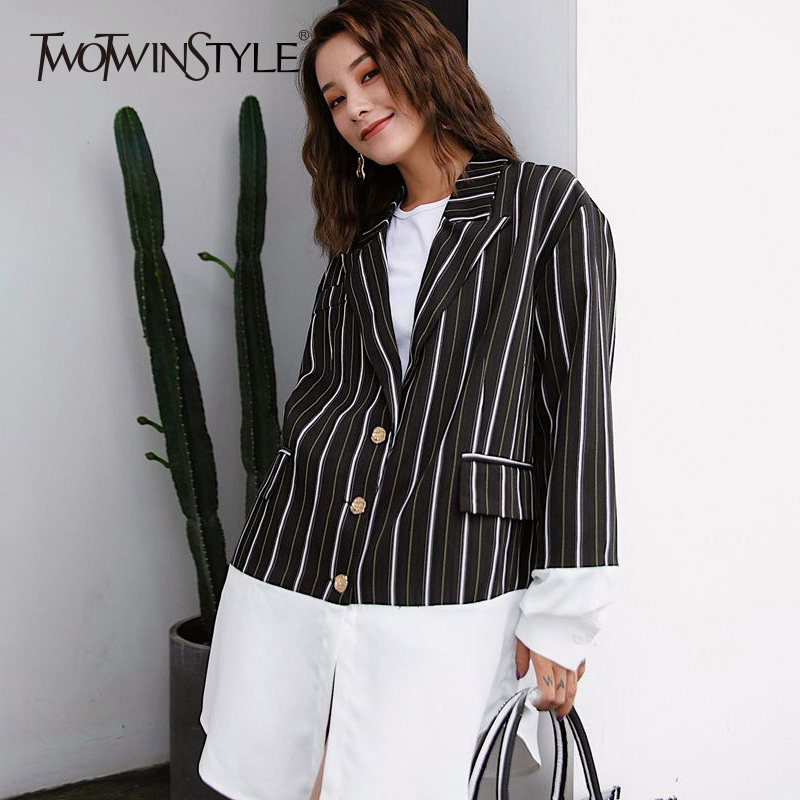 2018 E Manica Twotwinstyle Autunno Patchwork Camicette A Sportiva iOkXTPZu