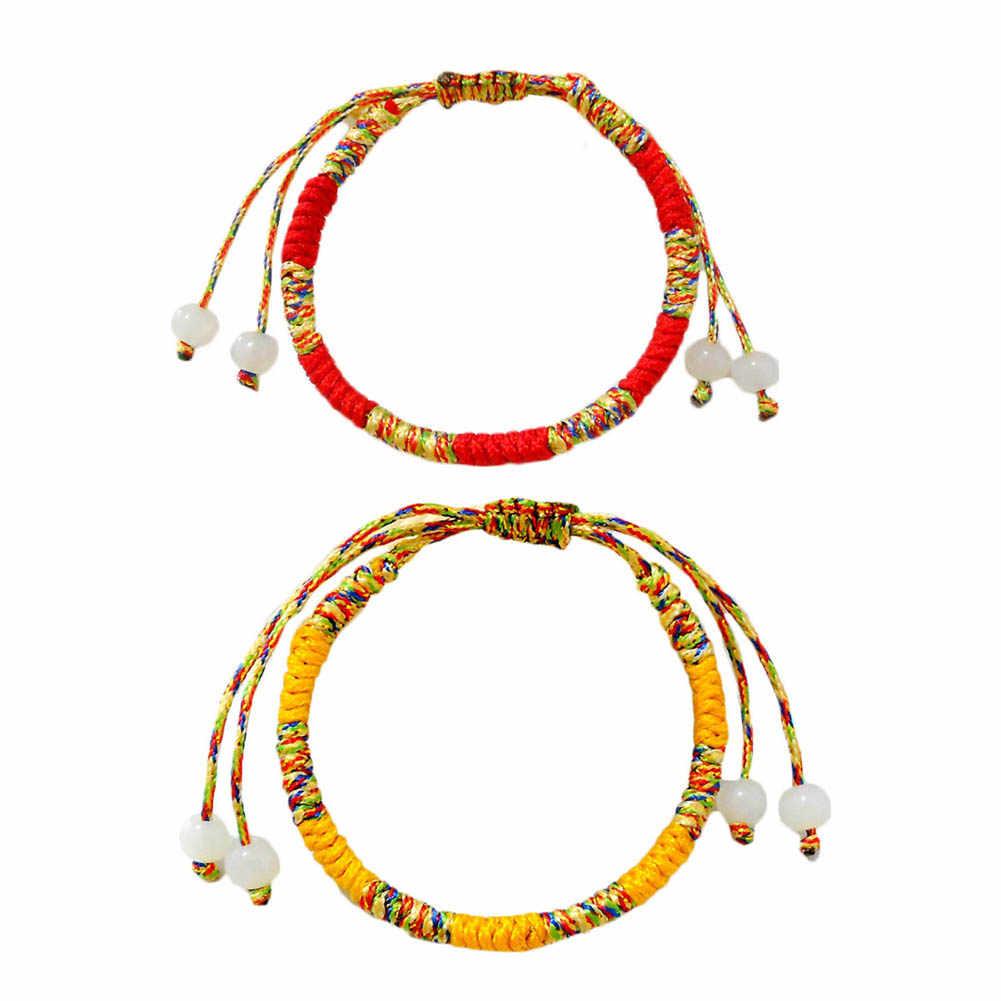 Bohemian Brazil Cheap Colorful Rainbow Handmade Weave Woven Braided Rope Thin String Strand Friendship Bracelet
