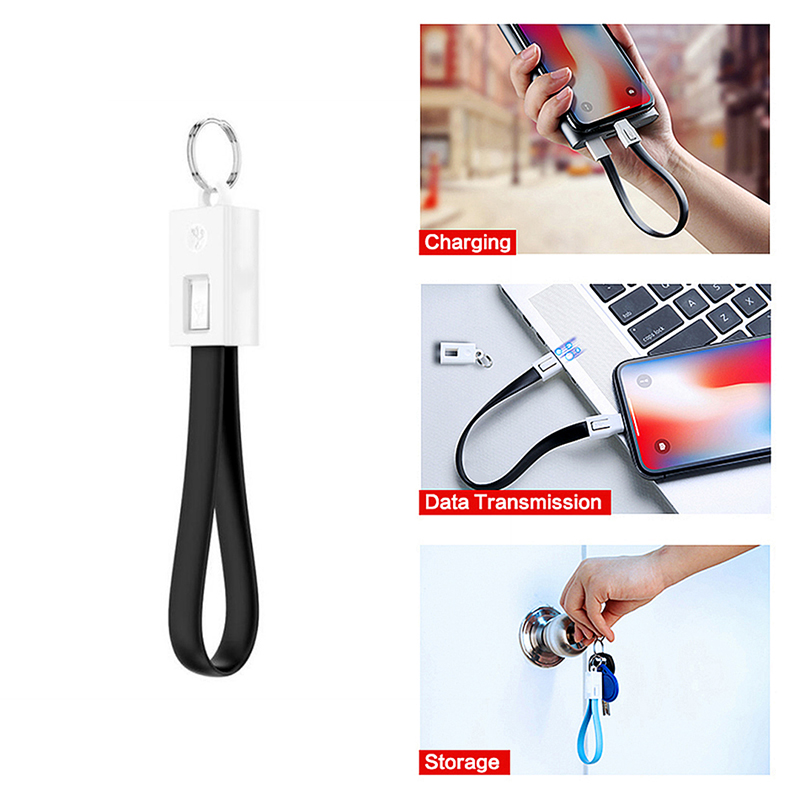 Key Chain Micro USB Type C Lighting Cable Fast Charging Cable For <font><b>iPhone</b></font> <font><b>6s</b></font> Samsung Charger Usbc Typec Keychain Cord Short <font><b>Cabel</b></font> image