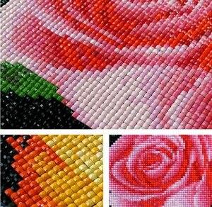Image 2 - 5D diy بها بنفسك الماس اللوحة المشهد الأفريقي مشهد صور الراين 5 قطعة مربع عبر غرزة التطريز ديكور المنزل A3