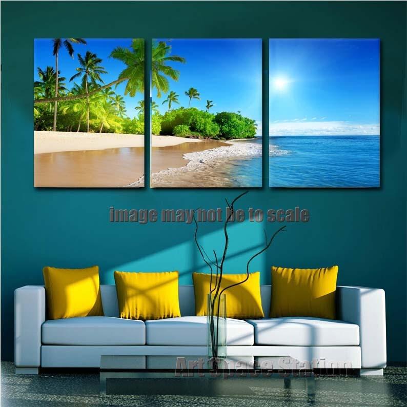 Cuadros decorativos playa del paisaje marino hd impresi n for Cuadros decoracion hogar