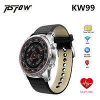 Bluetooth 4 0 Android OS KW99 Smart Watch Phone Support Video WiFi 3G Sim Card Heart
