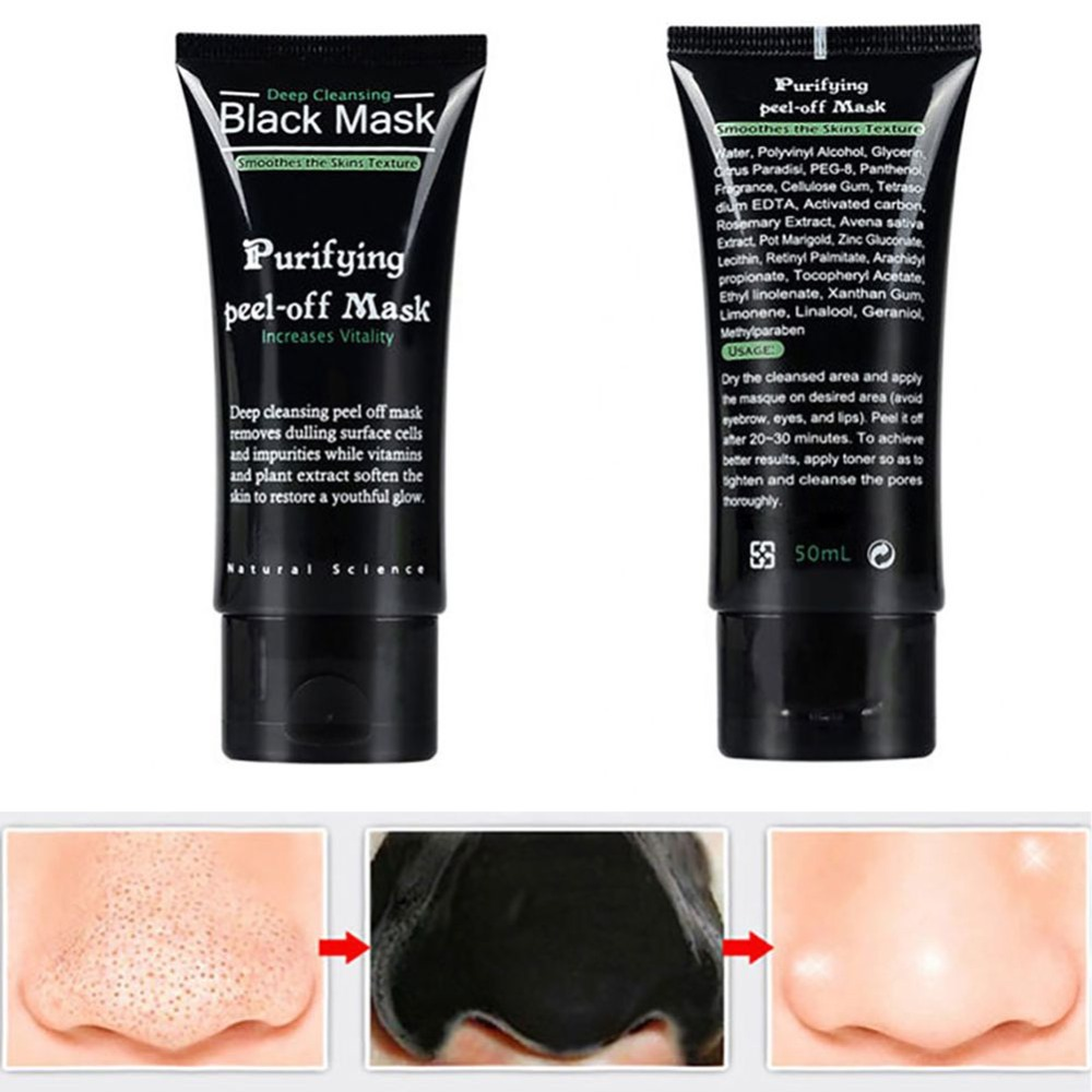 Blackhead Remove Facial Masks Deep Cleansing Purifying Peel Off Black Nud Facail Face black Mask image