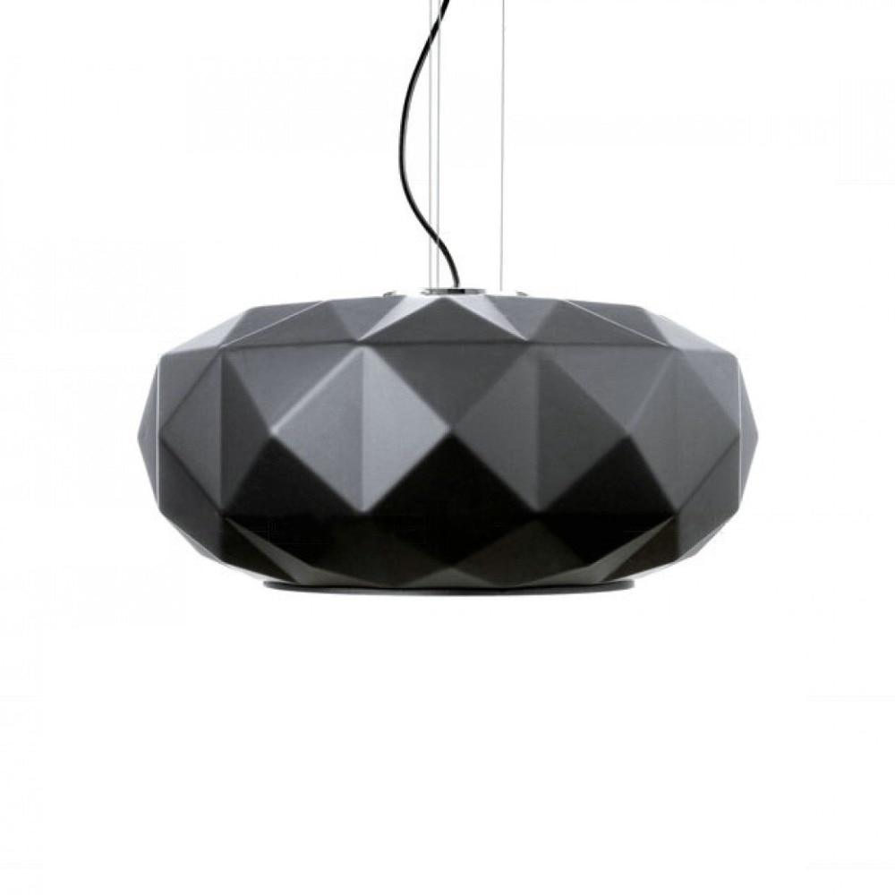 Deluxe Pendant Lights White Black Glass Pumpkin Pendant Lamp For Restaurant Living Room Suspension Lighting Fixture PL56 18 230g deluxe black