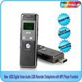 Free shipping! New 4GB Digital Voice Audio USB Recorder Dictaphone with FM Radio MP3 Player Function