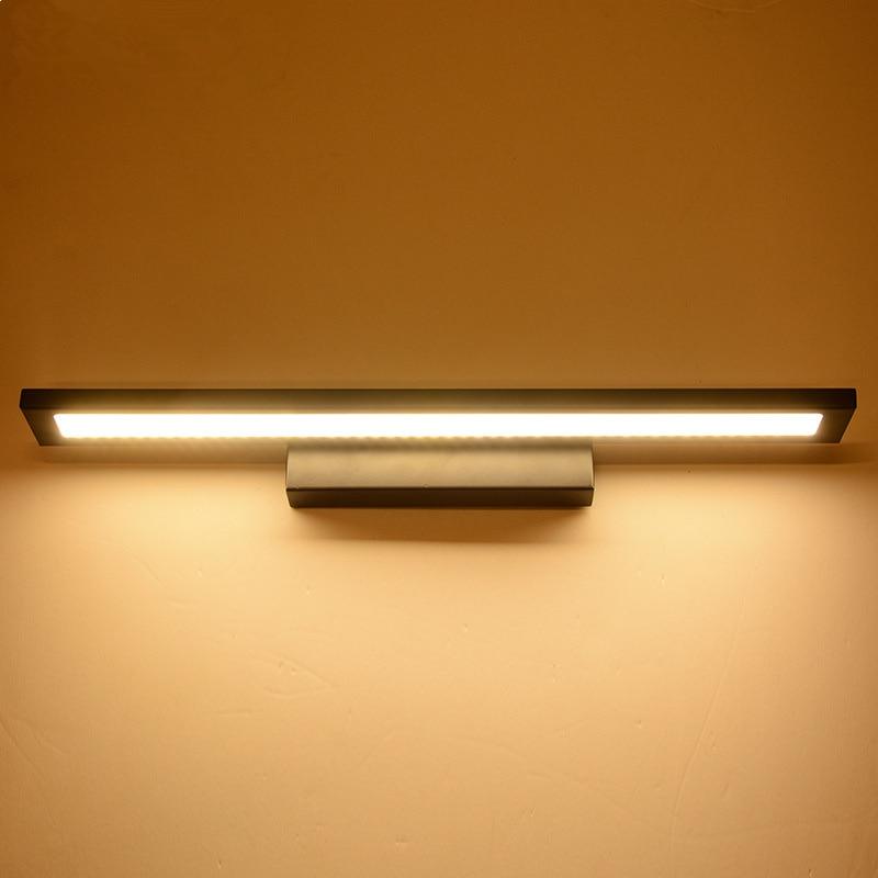 WoodPow LED Wall Lamp Minimalism Mirror Front Light Bathroom Wall Lights Modern Pinup Luminaire Lampada Corridor Porch Lighting