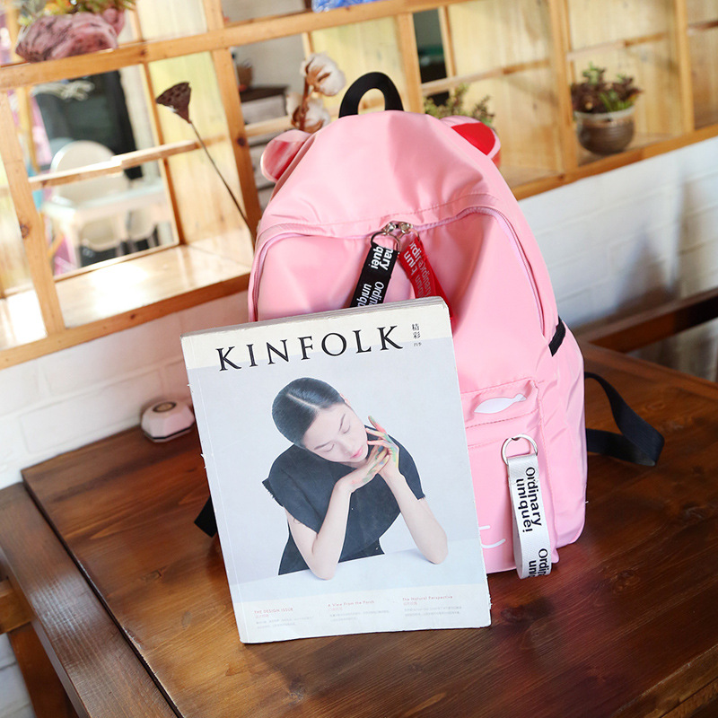 2018 Preppy Style Backpack for Girls School Bags Teenage High School Student Back Pack Nylon Printing Back Bag Female Bagpack
