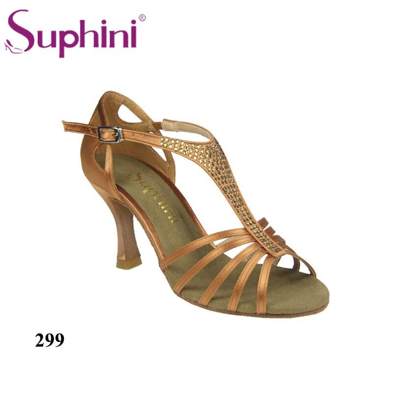 Free Shipping Suphini Woman Latin Dance Shoes Top Sale Latin Dance Shoes Rhinestone Dance Shoe Woman Dance Shoes