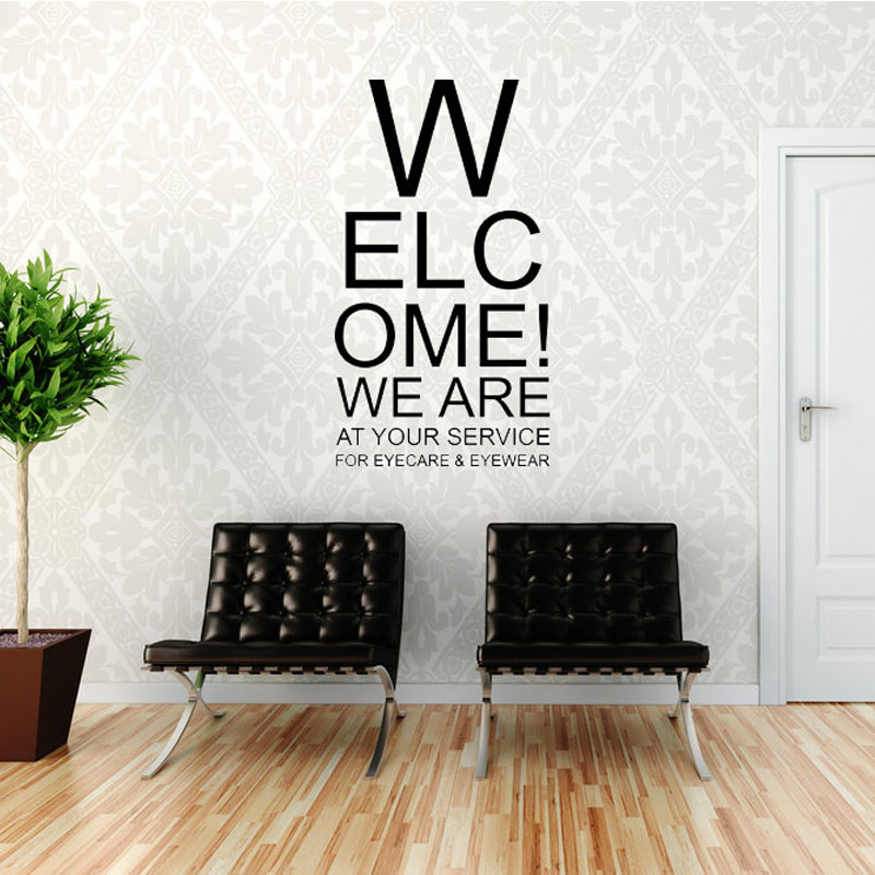 Wall Quotes Vinyl Sticker Welcome We Are At Your Service Wall Decal Home Art Deco Office Shop Decor Waterproof Lr45 Wall Stickers Aliexpress