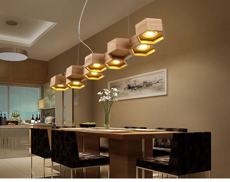 Wood Honeycomb LED Lamp