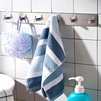 Stainless Steel Bathroom Towel Clothes Hook Free Nail Cap Bag Storage Hooks Wall Door Hanger Rack