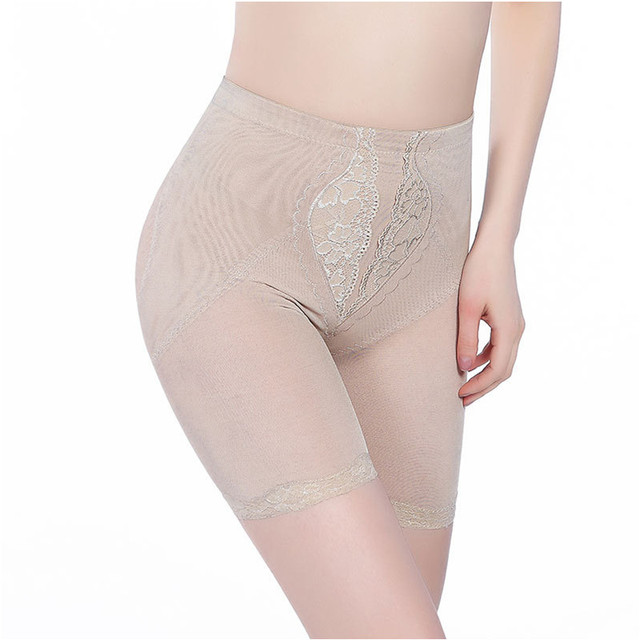 Varsbaby Women's Sexy Lace 5 Points Breathable Control Panties Ladies Body Shaper