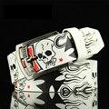 New skull men's <font><b>belts</b></font> women's decorative <font><b>belts</b></font> schoolboy jeans <font><b>belts</b></font> street fashion yourfocus high quality PU A cross print